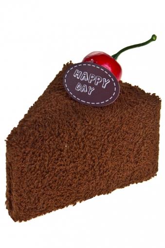 """Наборы для ванной Красный куб Полотенце подарочное """"Кусочек торта"""""""