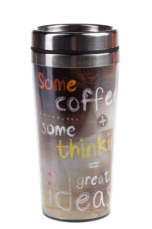 """Термокружки и стаканы для чая/кофе Красный куб Термокружка с крышкой """"Идея"""""""