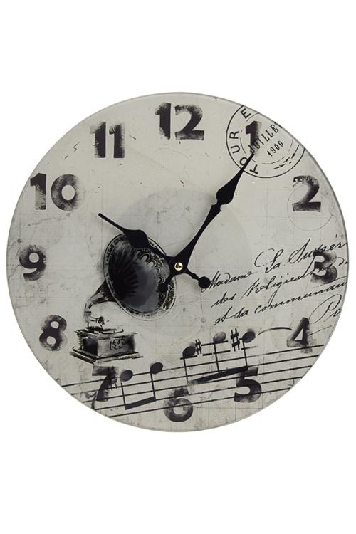 "Часы Настенные Красный куб Часы настенные ""Старинный патефон"""