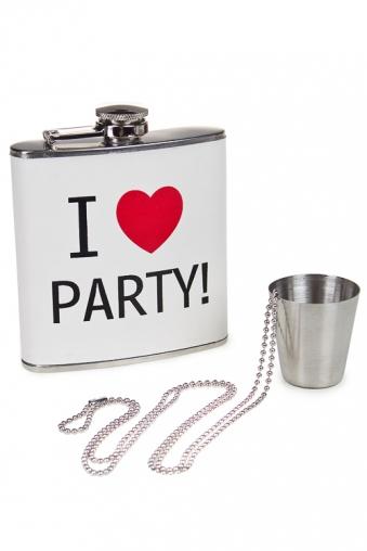 """Подголовники и аксессуары для путешествий Красный куб Набор подарочный """"Я люблю вечеринки"""""""
