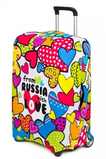 """Подголовники и аксессуары для путешествий Красный куб Чехол для чемодана """"Из России с любовью"""""""