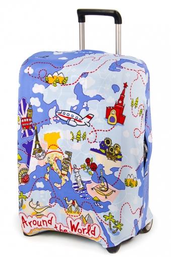 """Подголовники и аксессуары для путешествий Красный куб Чехол для чемодана """"Карта Европы"""""""