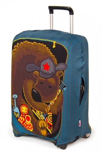 """Подголовники и аксессуары для путешествий Красный куб Чехол для чемодана """"Михалыч"""""""