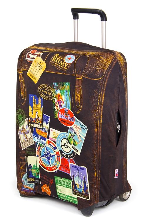 """Подголовники и аксессуары для путешествий Красный куб Чехол для чемодана """"Винтаж"""""""