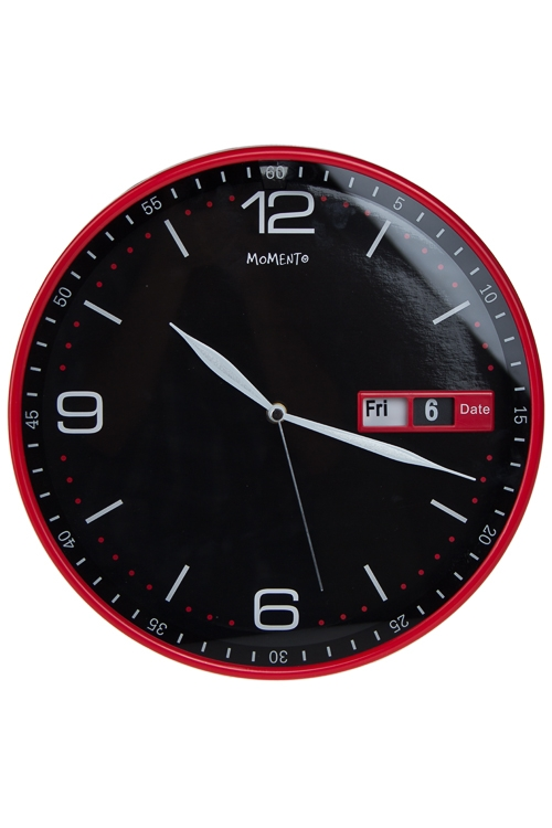 "Часы Настенные Красный куб Часы настенные ""Часы с датой"""