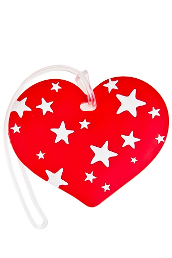 """Подголовники и аксессуары для путешествий Красный куб Бирка-мемо для багажа """"Сердечко"""""""
