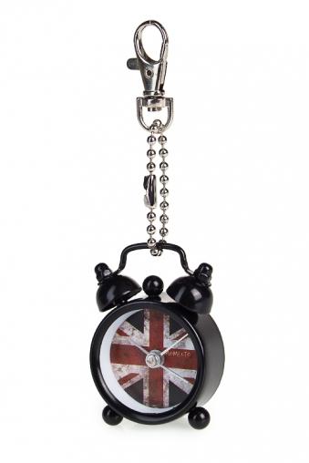 """Брелок Часы Красный куб Часы-мини """"Британский флаг"""""""