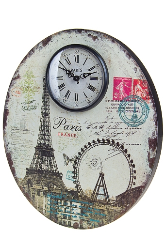 "Часы Настенные Красный куб Часы настенные ""Панорама Парижа"""