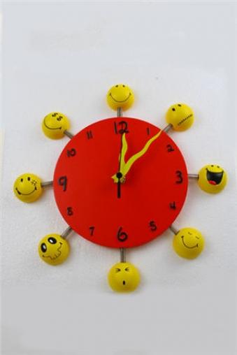 """Подарки на день рождения Красный куб Часы настенные """"Смайлики"""""""