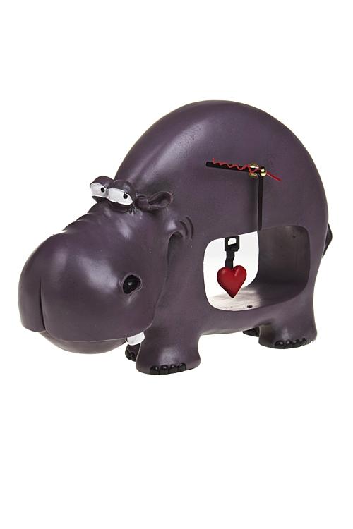 """Часы Настольные Красный куб Часы настольные """"Бегемоты тоже умеют любить!"""""""