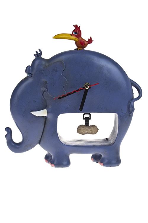 """Часы Настольные Красный куб Часы настольные """"Верхом на слоне"""""""