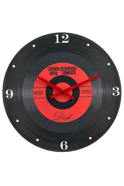 "Часы Настенные Красный куб Часы настенные ""Пластинка"""