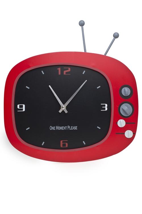 "Часы Настенные Красный куб Часы настенные ""Телевизор"""
