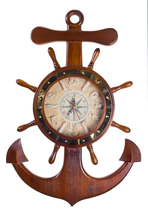 "Часы Настенные Красный куб Часы настенные ""Корабельные атрибуты"""