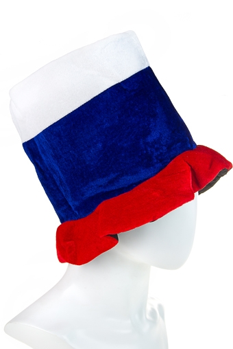 """Маскарадные костюмы Красный куб Шляпа маскарадная для взрослых """"Российский флаг"""""""
