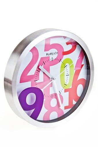 "Часы Настенные Красный куб Часы настенные ""Яркие цифры"""