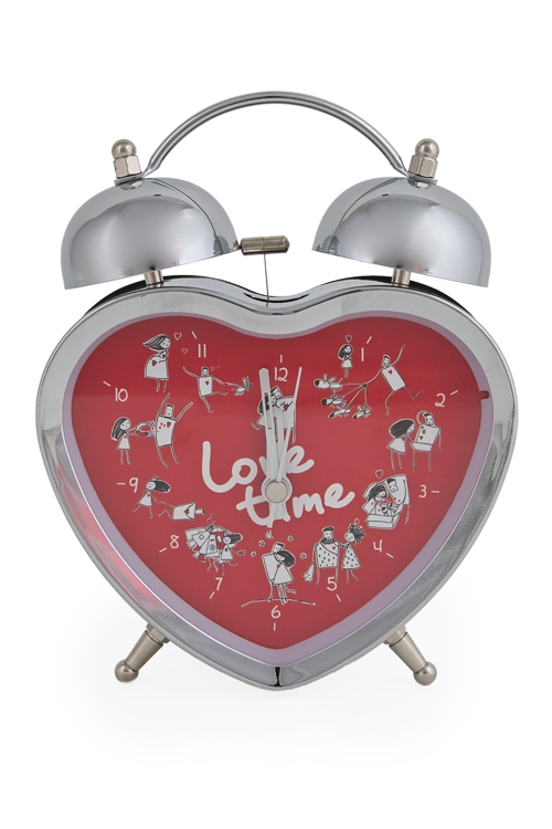 "Часы Настольные Красный куб Часы настольные ""Это любовь!"""