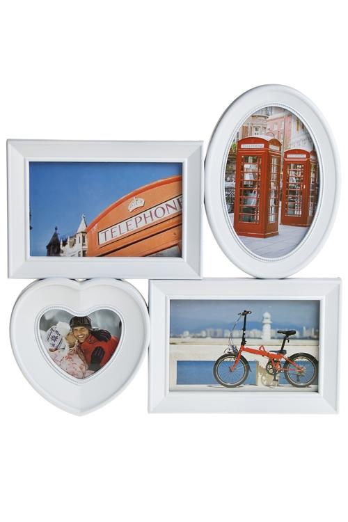 """Пластиковые фоторамки Красный куб Рамка для 4-х фото """"Наши путешествия"""""""