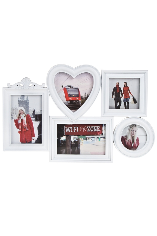 """Пластиковые фоторамки Красный куб Рамка для 5-ти фото """"Наши путешествия"""""""