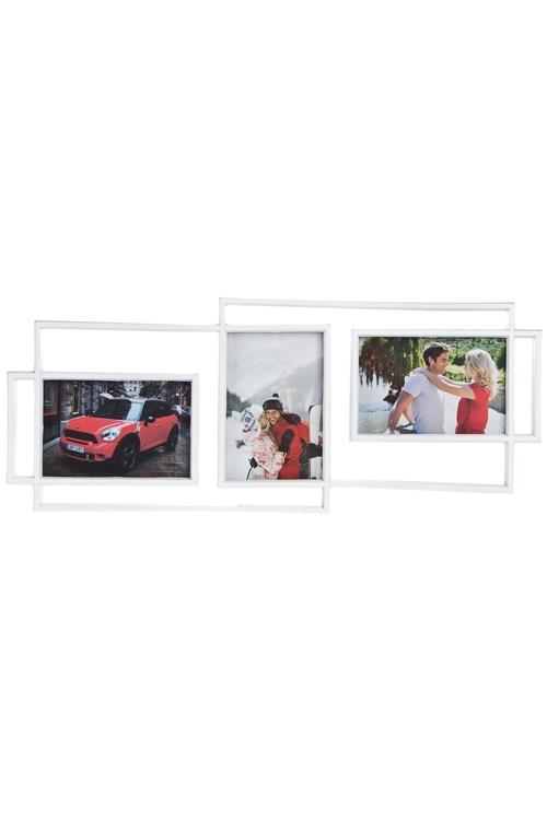 """Пластиковые фоторамки Красный куб Рамка для 3-х фото """"Четкие линии"""""""