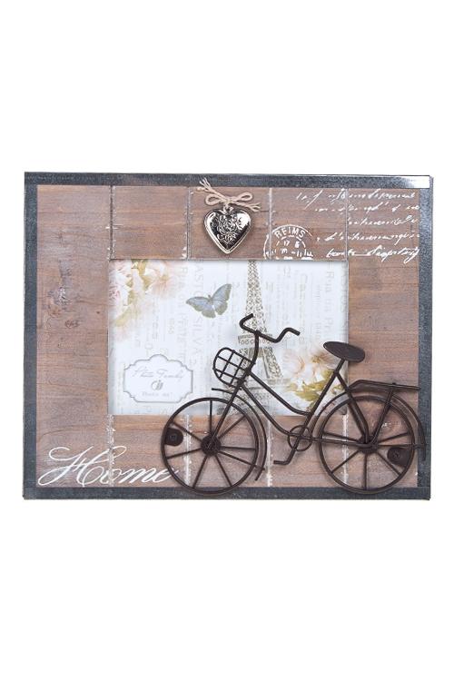 """Деревянные фоторамки Красный куб Рамка для фото """"Велосипедная прогулка"""""""