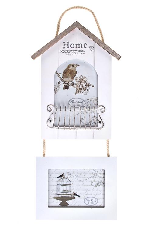 """Деревянные фоторамки Красный куб Рамка для 2-х фото """"Птичкин дом"""""""