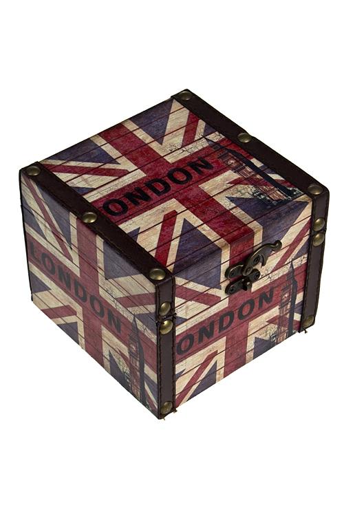 """Шкатулки для украшений Красный куб Шкатулка """"Лондон"""""""