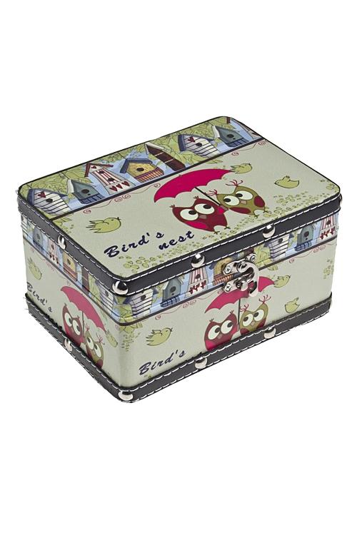 """Шкатулки для украшений Красный куб Шкатулка """"Птичкино гнездо"""""""