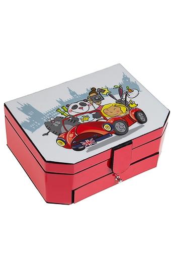 """Шкатулки для украшений Красный куб Шкатулка для ювелирных украшений """"Веселая компания"""""""