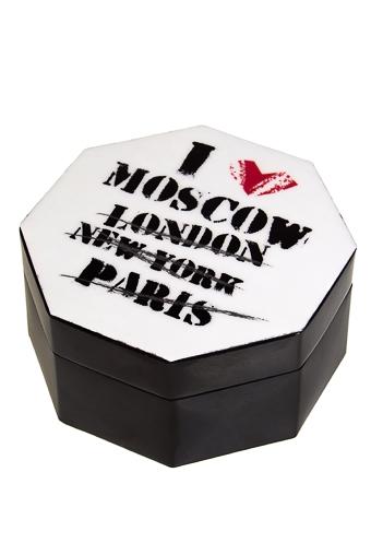 """Шкатулки для украшений Красный куб Шкатулка для ювелирных украшений """"Я люблю..."""""""