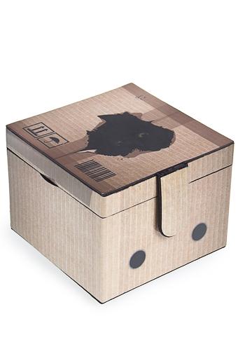 """Шкатулки для украшений Красный куб Шкатулка для ювелирных украшений """"Котик в коробке"""""""