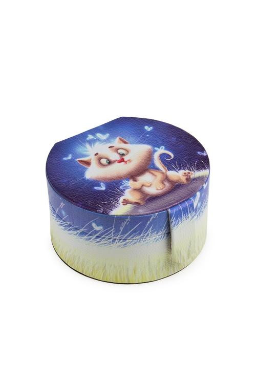 """Шкатулки для украшений Красный куб Шкатулка для ювелирных украшений """"Волшебный котик"""""""