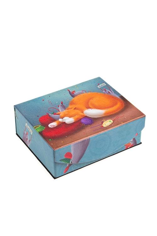 """Шкатулки для украшений Красный куб Шкатулка для ювелирных украшений """"Усатая вечеринка"""""""