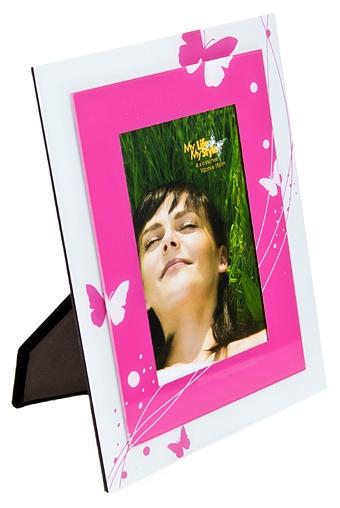"""Стеклянные фоторамки Красный куб Рамка для фото """"Бабочки"""""""