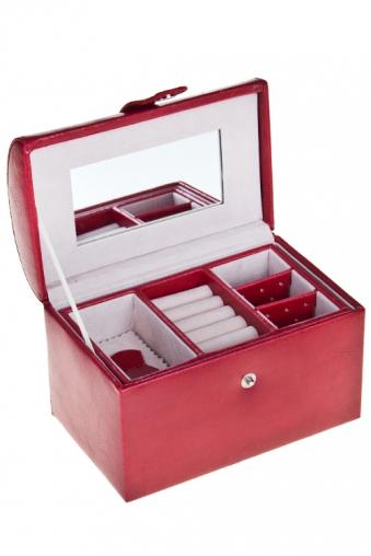 """Шкатулки для украшений Красный куб Шкатулка для ювелирных украшений """"Бордо"""""""