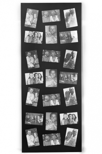 """Деревянные фоторамки Красный куб Рамка для 21-го фото """"Счастливые моменты"""""""
