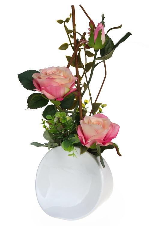 """Декоративные цветы Красный куб Композиция декоративная """"Очарование роз"""""""