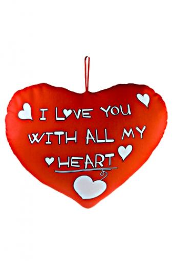 """Релаксанты Красный куб Игрушка мягкая """"Люблю всем сердцем"""""""