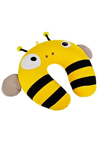 """Подголовники и аксессуары для путешествий Красный куб Подушка декоративная """"Веселая пчела"""""""