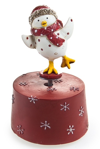 """Фигурки Красный куб Украшение для интерьера музык. и двиг.  """"Птичка с шарфом"""""""
