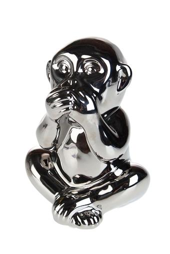 """Керамические статуэтки Красный куб Украшение для интерьера """"Мудрая обезьяна"""""""