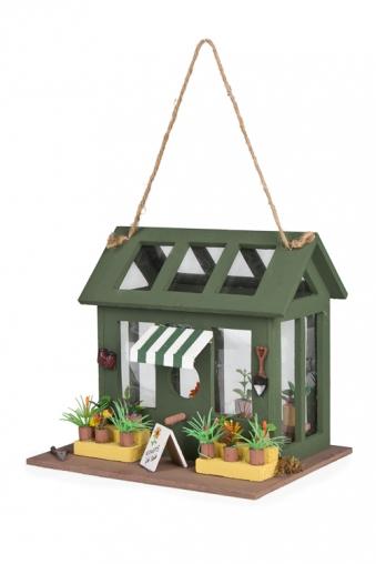 """Скворечники Красный куб Декор для сада-скворечник """"Милая оранжерея"""""""