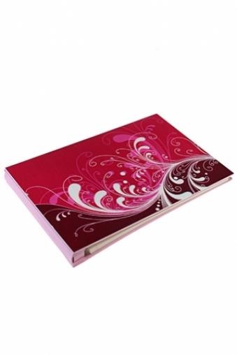 """Свадебные фотоальбомы Красный куб Фотоальбом магнитный """"Нежный узор"""""""