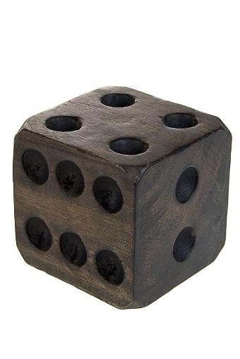 """Деревянные статуэтки Красный куб Украшение для интерьера """"Кубик на счастье"""""""