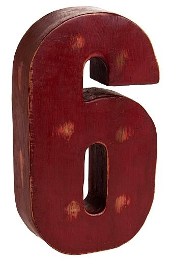 """Деревянные статуэтки Красный куб Украшение для интерьера """"Счастливая шестерка"""""""