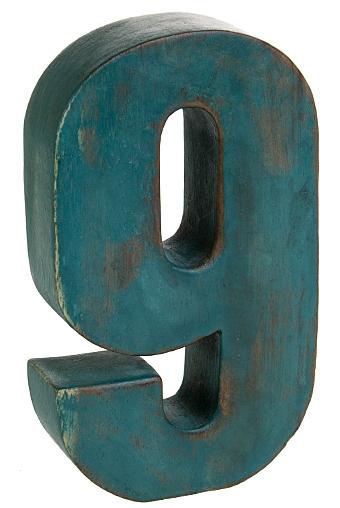 """Деревянные статуэтки Красный куб Украшение для интерьера """"Счастливая девятка"""""""