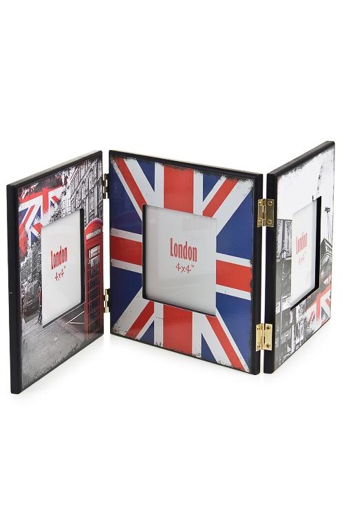 """Деревянные фоторамки Красный куб Рамка для 3-х фото """"Лондон"""""""