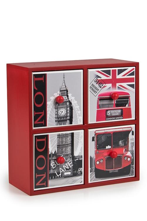 """Шкатулки для украшений Красный куб Шкатулка """"Улицы Лондона"""""""