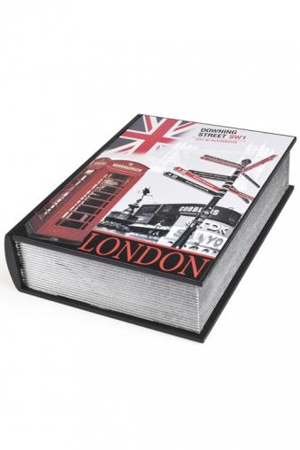"""Шкатулки для украшений Красный куб Шкатулка """"Книга-Улицы Лондона"""""""