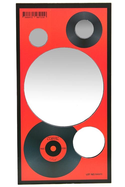 """Зеркальца и таблетницы Красный куб Зеркало настенное """"Виниловая пластинка"""""""